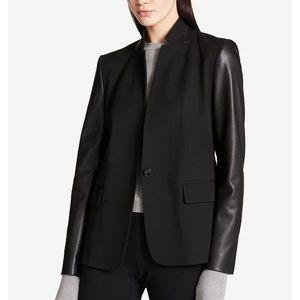 NWOT Benetton faux leather blazer